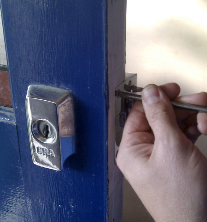 Installing a secure door lock